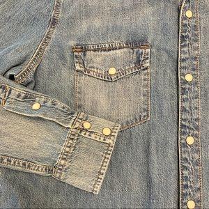 Lucky Brand Tops - Lucky Brand Western Shirt Denim Large
